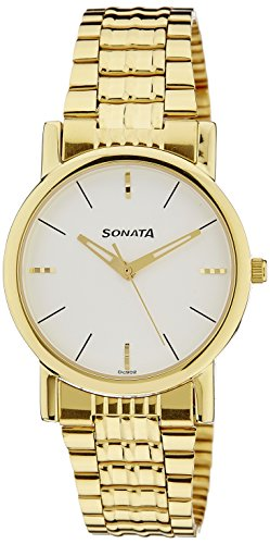 Sonata Analog White Dial Men's Watch NM7987YM05W/NN7987YM05W