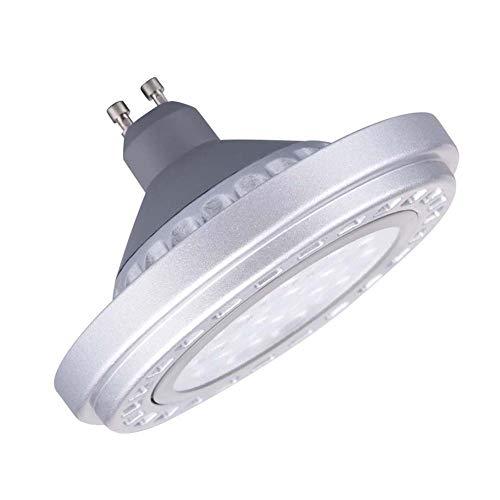 Led Dimmable GU10 Base AR111 Bulb Spotlight 15W 30°Beam View Angle Cool Light 6000k SMD 15LEDs AC175-265V Reflector Lights 1200Lm 120W Equivalent Par36 Gu10 Track Light For Commercial Church Light