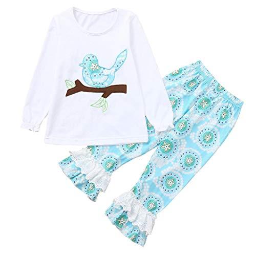 593701a246 1-6 Years Toddler Kids Baby Girls Long Sleeve Little Animals Top T Shirt+  Cute