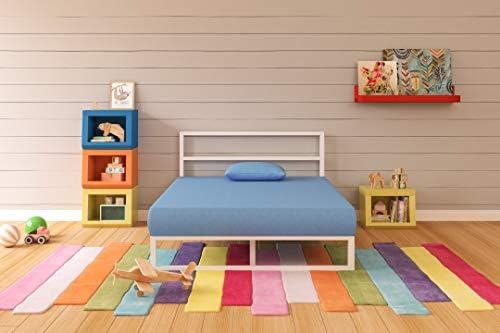 Ashley Furniture Signature Design – iKidz Children s Mattress and Pillow Set – Kids Bed in a Box – Full – Blue