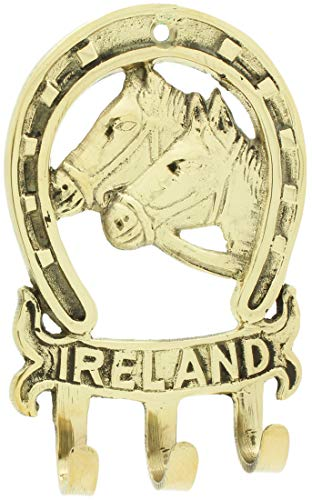 Liffey Artefacts Brass Horse Head Ireland Key Rack -