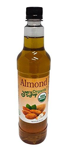 Joe's Syrup Organic Flavored Syrup, Organic Almond, 750 (Almond Soda)