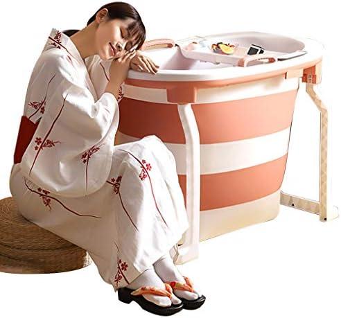 折りたたみ式バスタブ 成人用バスタブ 便利な断熱バスタブ 子供用シンプルスイミングバケツ(最大負荷100kg) (Color : Pink, Size : 103*65*76.5cm)