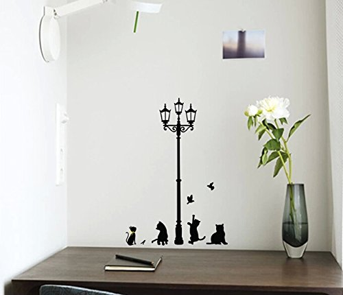 ZooYoo Black Cat Removable Wall Sticker Decal