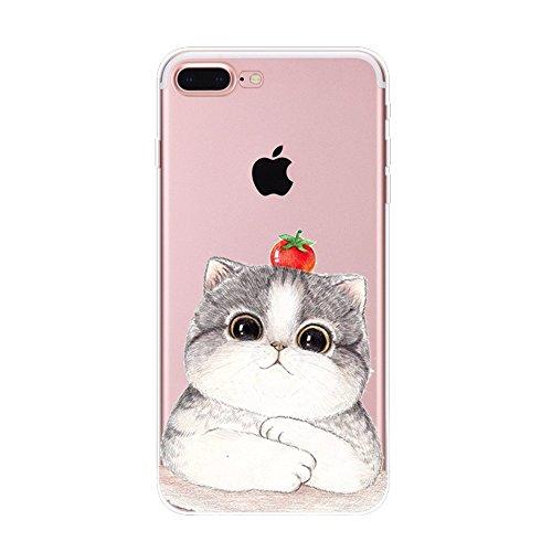 Vanki® Funda iPhone 7 Plus, Carcasa Serie volar Sakura iPhone 7 Plus Case Cover Silicona Suave Funda para Apple iPhone 7 Plus 5.5 inch 11