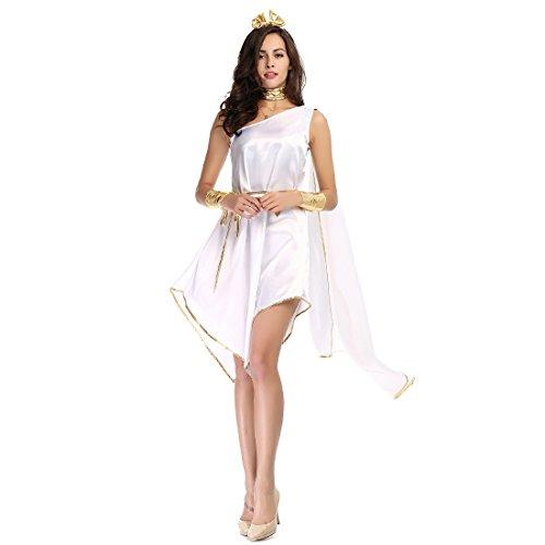 Athenian Dress (Slocyclub Women's Athenian Greek Goddess Costume White Off Shoulder Dress)