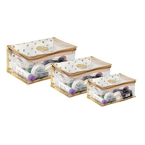 Prettykrafts Golden Vanity Kit/Cosmetic Kit/Jewellery Kit/Makeup Kit
