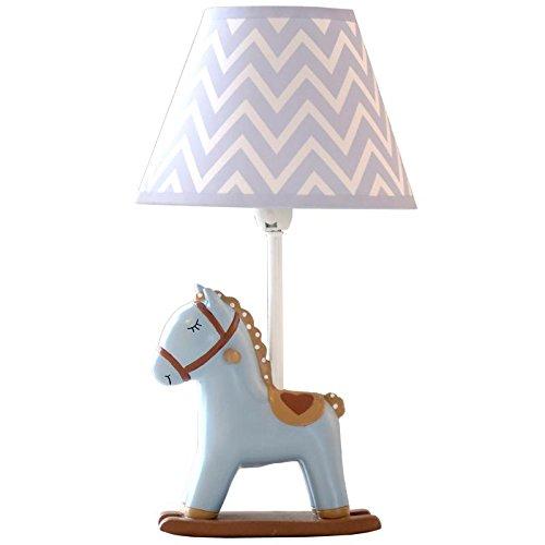 QIANGQI Caldo Creativo Bella Cavallo blu grigio Luce LED regolabile lampada Luce calda E27 Camera da letto lampada comodino Camera per bambini Regalo di compleanno 26  45 cm
