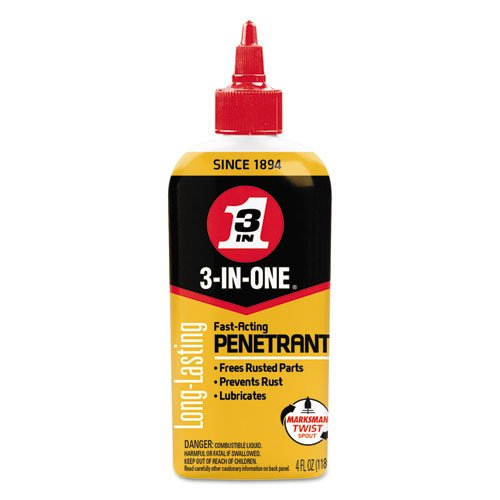4 Cartons Ounce (3-IN-ONE Professional High-Performance Penetrant, 4 oz Bottle, 12/CT, Sold as 1 Carton, 12 Each per Carton)