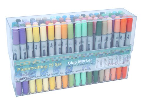 72 Papercrafting - Copic Ciao Set of 72 Color Marker by Copic