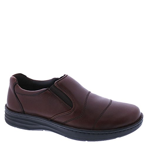 outlet low price fee shipping with paypal low price Drew Shoe Fairfield - Men's Therapeutic Diabetic Extra Depth Shoe Leather Slip-On Brandy recommend for sale zwiILk
