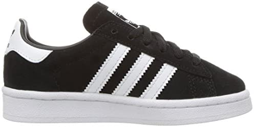 adidas Originals Boys' Campus C Sneaker, Black White, 1 Medium US Little Kid