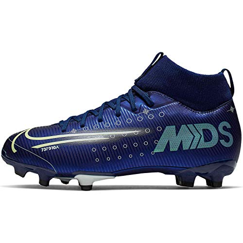 Nike Jr. Mercurial Superfly 7 Academy MDS MG Youth Soccer Cleats (5.5 Big Kid US) Blue