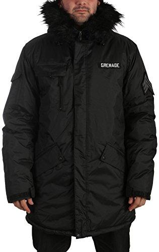 Grenade Parka Snowboard Jacket Mens Sz M Black