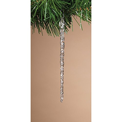 The Gerson Company 2156800EC 20 Piece Glass Christmas Ornaments Set (Spun Ornament Tree Glass)