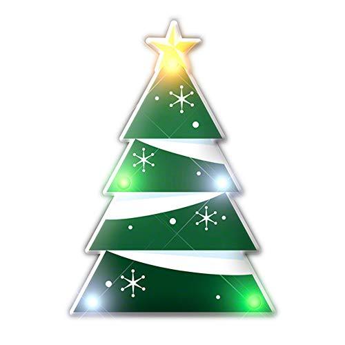 blinkee Holiday Flashing Christmas Tree Lapel Pin Body Light
