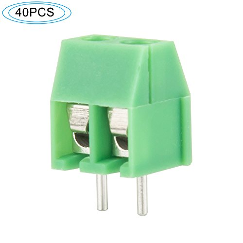 - DIYhz Green 40PCS 2P 2Pin Screw Terminal Block Connector 3.5mm Pitch for Arduino 8A 250V 51589 ...