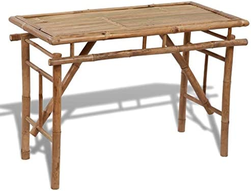 Festnight Folding Dining Table Portable Bamboo Camping Table for Picnic Party Kitchen Dining Cookout Camping Indoor Outdoor Furniture 47.2 x 19.7 x 30.3 L x W x H
