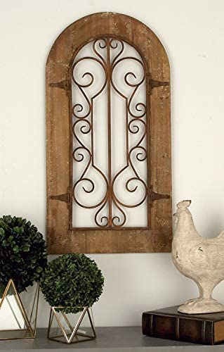 Deco 79 52748 Wooden And Metal Wall Panel