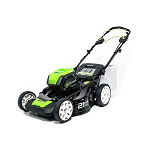 Greenworks PRO 21-Inch 80V Brushless Self-Propelled Cordless Lawn Mower, Battery Not Included MO80L00 by GreenWorks