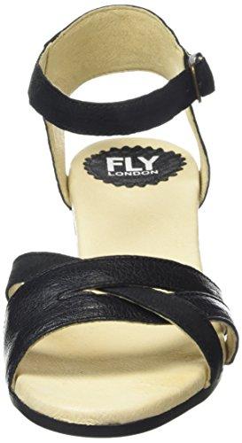 Femme Noir Sandales Saiz676fly Cheville Bride 000 London FLY Noir R4THSS