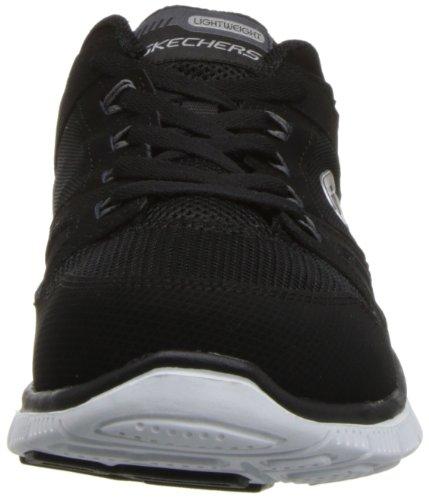 Skechers Flex AppealSpring Fever - Zapatillas de material sintético mujer Black/White