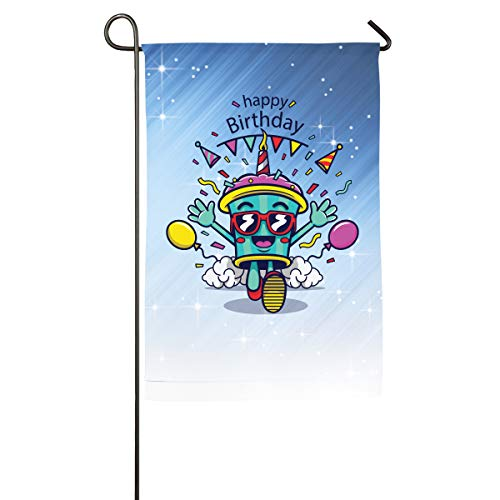 Shenigon Birthday Card Home Family Party Flag 100 Hipster Welcomes The Banner Garden Flags