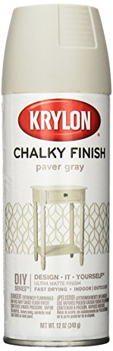 Krylon K04105000 Chalky Finish Spray Paint, Paver Gray, 12 O