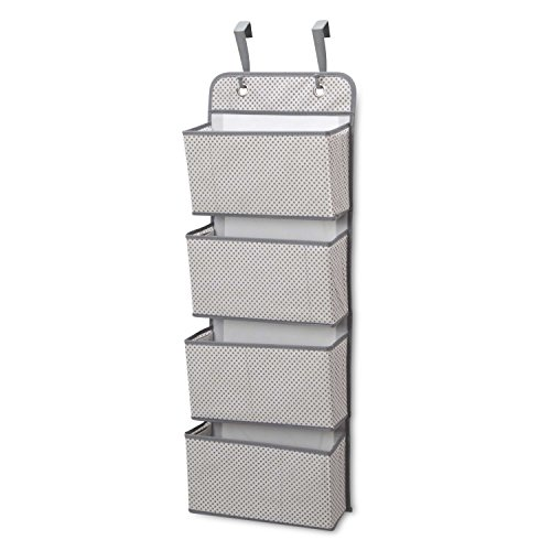 Delta Children 4 Pocket Over The Door Hanging Organizer, Grey