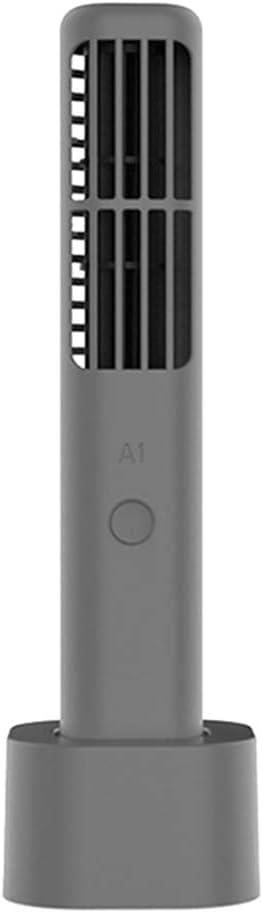 Leobtain Mini Ventilador Creativo Sin Hojas Handheld Office Portátil USB Wingless Fan Ventilador Sin Hojas Ruido Bajo 3 Velocidades para Escritorio Oficina Dormitorio Viajar Al Aire Libre