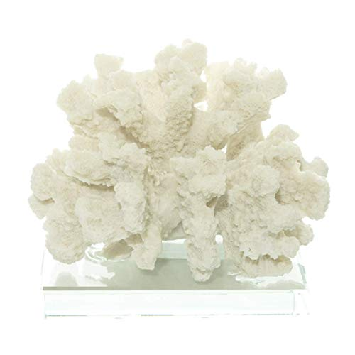 White Resin Coral | Crafted Coral On Base | White 3.5