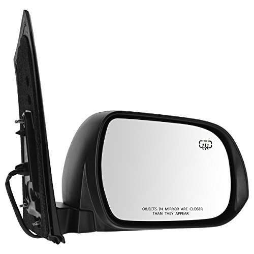 (Mirror Power Heated Black Blind Spot Passenger Side RH for Toyota Sienna)
