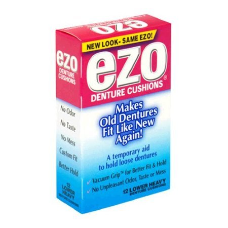 Ezo Denture Cushions, Lower Heavy, 15 Count (Pack of 12) ()