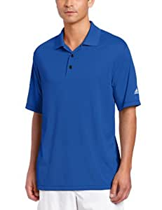 adidas Golf Men's Climalite Solid Polo Shirt, Blueberry, Small