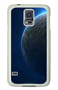 Samsung Galaxy S5 Case Cover - Planet Ball Terrestrial Custom Design PC White Case Cover for Samsung Galaxy S5
