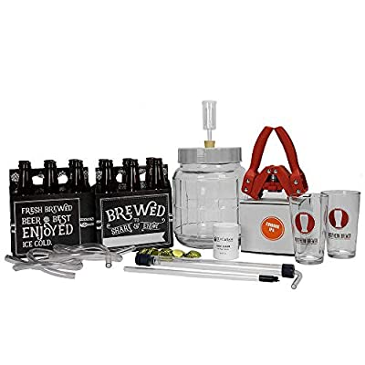 Northern Brewer - All Inclusive Gift Set 1 Gallon Small Batch HomeBrewing Starter Kit - One Gallon Recipe With Equipment For Making Homemade Beer