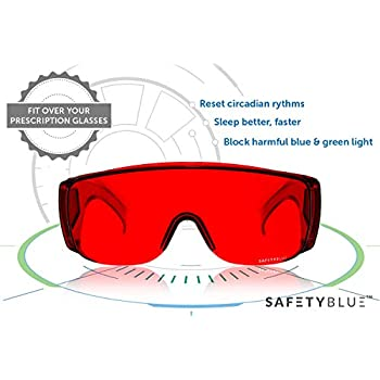78c059e54d Amazon.com  BLUblox Wayfarer Sleep+ 100% Blue Green Light Blocking ...