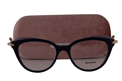 Miu Miu MU01QV Eyeglasses 50-17-140 Blue w/Demo Clear Lens VYA1O1 MU 01QV VMU01QV VMU - Miu Spectacles Miu
