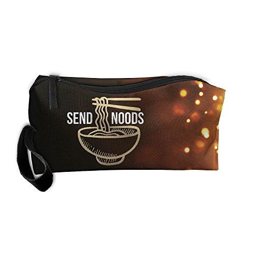 Price comparison product image Send Noods Ramen Noodles Beauty Women Cosmetic Bags Portable Travel Toiletry Pouch Makeup Organizer With Zipper