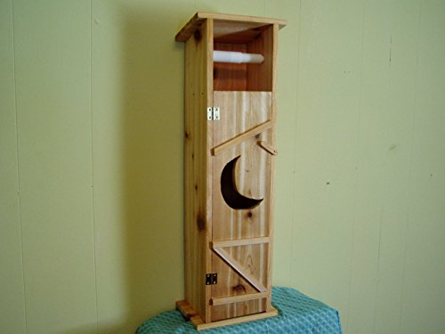 Handmade Cedar Wood Outhouse Toilet Tissue Paper Holder (Outhouse Bathroom Toilet)