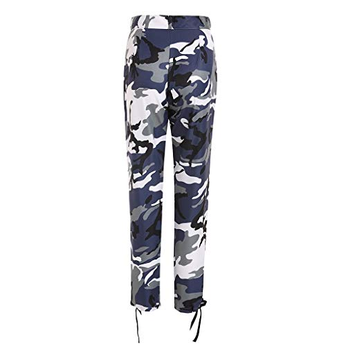 Women Sports Camouflage Sweatpants Casual Skinny Stretch Twill Cargo Jogger Trousers
