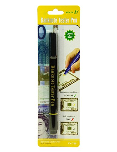 Counterfeit Money Detector Pen Banknote Tester Currency Cash Checker Marker Fake Dollar Bill Black