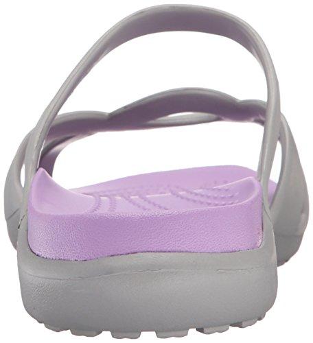 Iris Meleen Sandal Silver Crocs Women's Twist UAxnfq