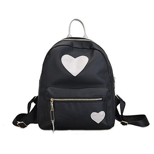 Amazon.com: Adealink Women Lady Travel Backpack Nylon Waterproof Love Heart Zipper Girls Studend School Shoulder Bag: Sports & Outdoors