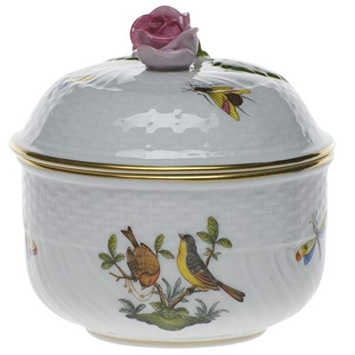 (Herend Rothschild Bird Porcelain Covered Sugar With)
