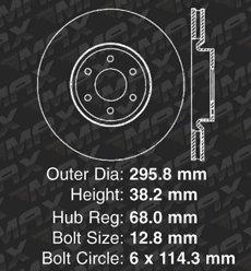 Premium Slotted Drilled Rotors + Ceramic Pads Max Brakes Front /& Rear Supreme Brake Kit Fits: 2008 08 Nissan Pathfinder V6 Models KM037833