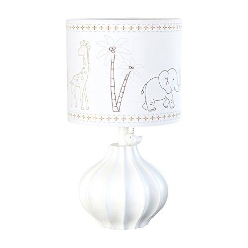 Just-Born-Nursery-Lamp-Animal-Kingdom-Collection-w-Safari-Shade-WhiteGrey