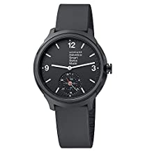 Mondaine Helvetica No 1 Bold Smart Black Dial Black Rubber Mens Watch MH1B2S20RB