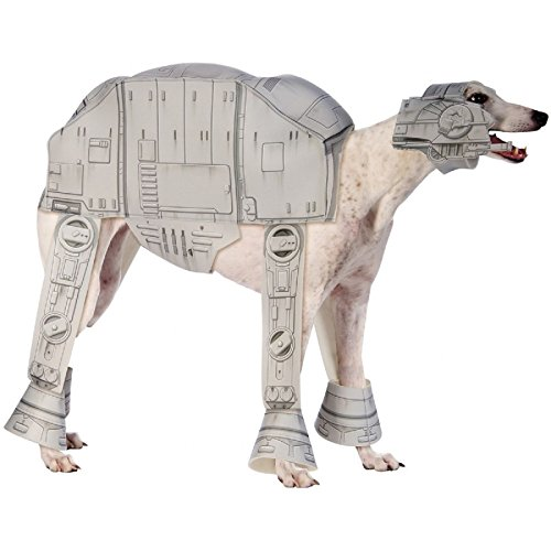 [Hot Sale! AT-AT Walker Pet Costume Pet Star Wars Halloween Fancy Dress (Medium, Gray)] (Halloween Costumes White Eyes)