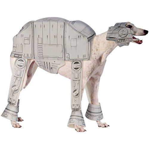 [Hot Sale! AT-AT Walker Pet Costume Pet Star Wars Halloween Fancy Dress (Medium, Gray)] (Witch Wig Stripes)